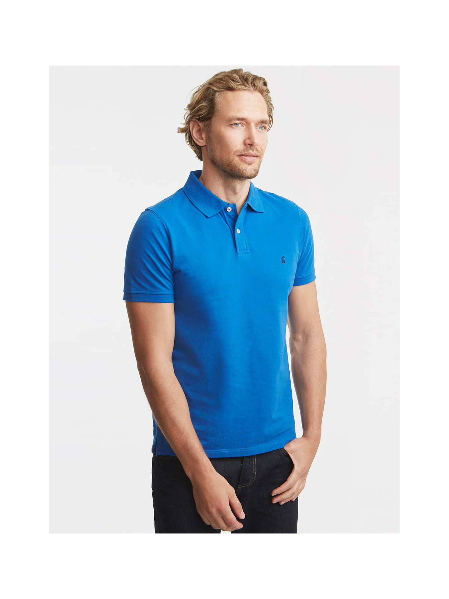 1dc5b231a29 Buy Joules New Maxwell Slim Fit Polo Shirt, Olympian Blue, S Online at  johnlewis ...