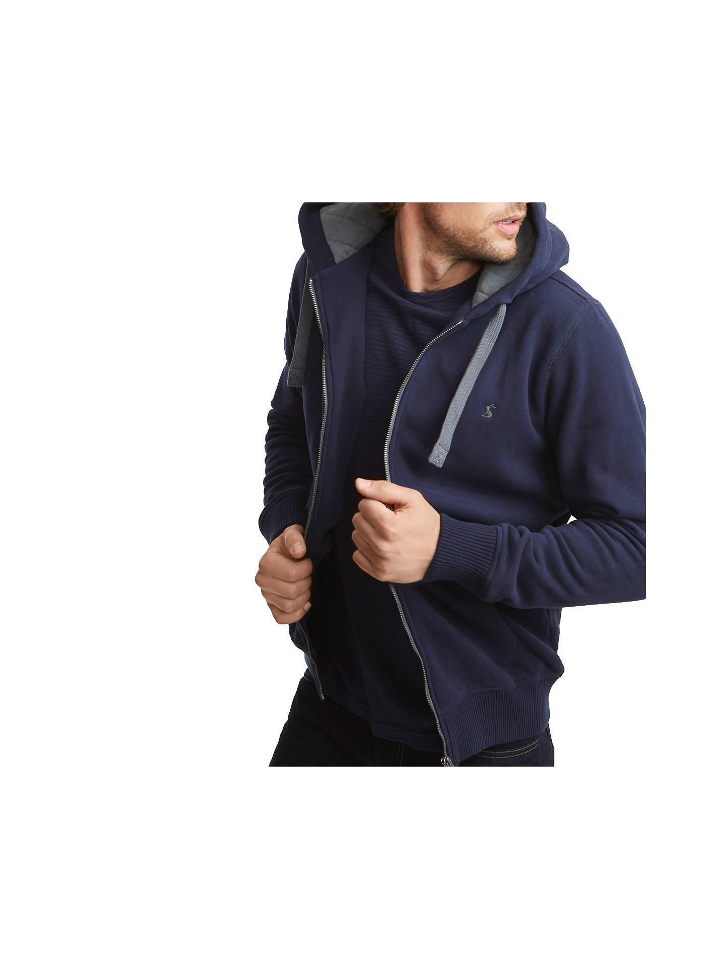 BuyJoules Pettet Hooded Jumper, New Navy, S Online at johnlewis.com