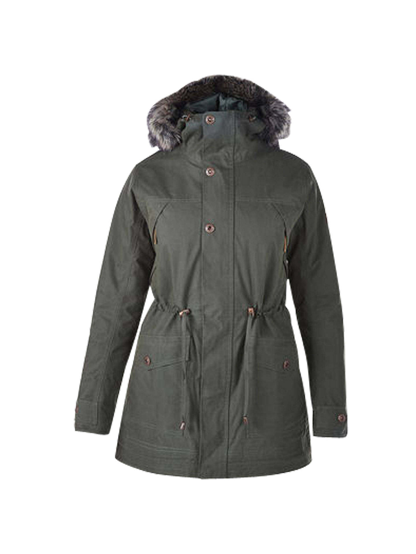 65b0f92c5 Berghaus Ancroft Waterproof Women's Parka Jacket, Green at John ...