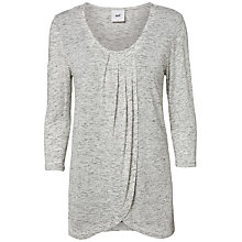 Buy Mamalicious Tacey Jersey Maternity Nursing Top, Grey Online at johnlewis.com
