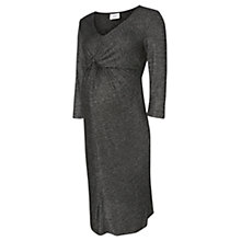 Buy Mamalicious Glitter 3/4 Jersey Maternity Dress, Dark Grey Online at johnlewis.com