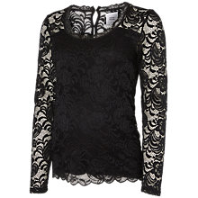 Buy Mamalicious Mivana Long Sleeve Maternity Top, Black Online at johnlewis.com