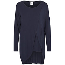 Buy Mamalicious Wrammy Iris Maternity Nursing Tunic Top, Navy Online at johnlewis.com
