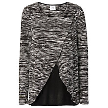 Buy Mamalicious Wram Tess Jersey Maternity Nursing Top, Grey/Black Online at johnlewis.com