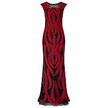Buy Phase Eight Collection 8 Azelia Tapework Full Length Dress, Black/Claret Online at johnlewis.com