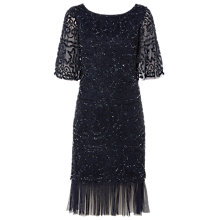 Buy Raishma Bell Sleeve Dress, Navy Online at johnlewis.com