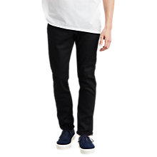 Buy Levi's Made & Crafted Tack Slim Fit Selvedge Jeans, Black Rigid Online at johnlewis.com