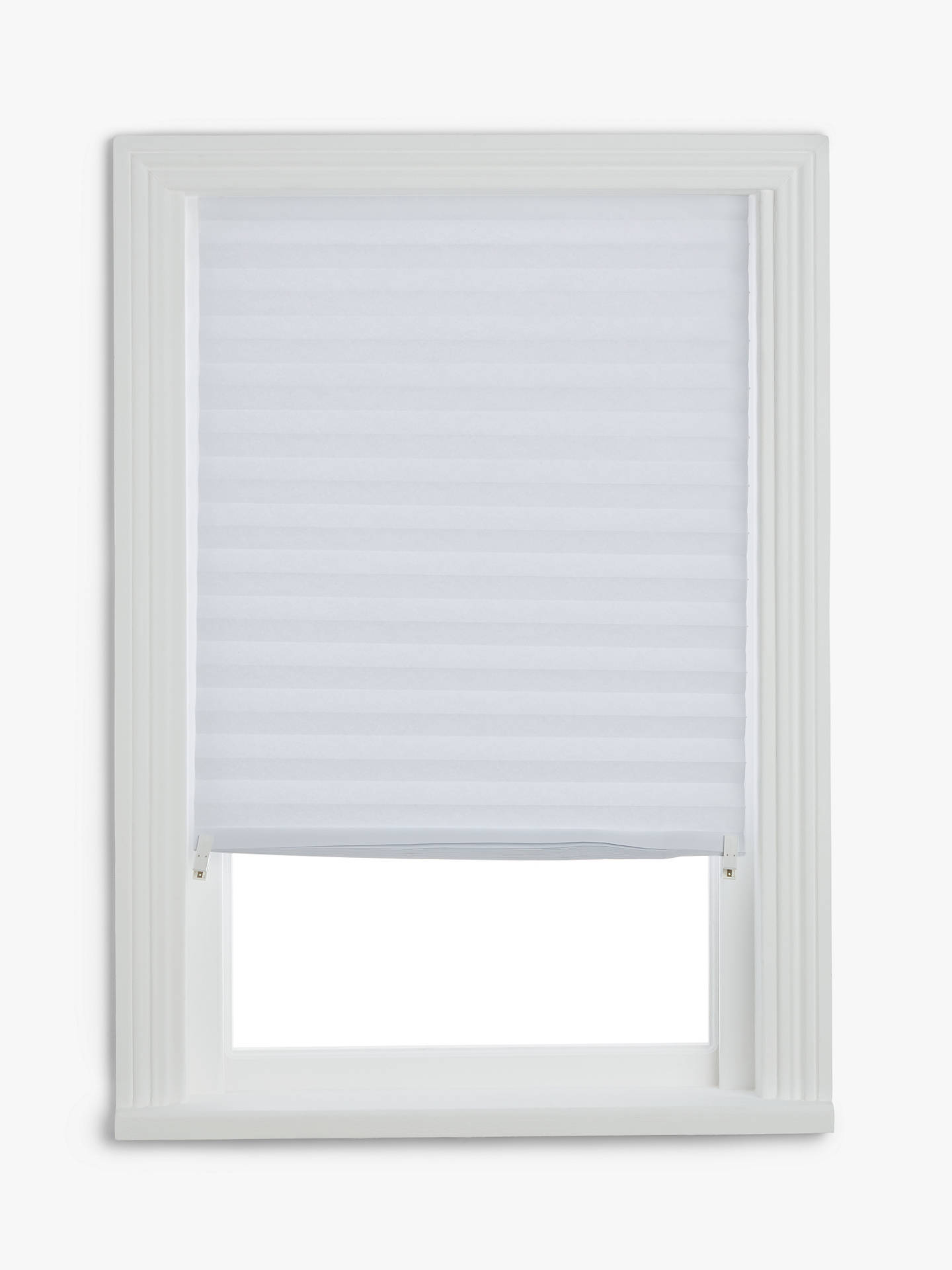 John Lewis Partners Temporary Pleated Blind White At John Lewis