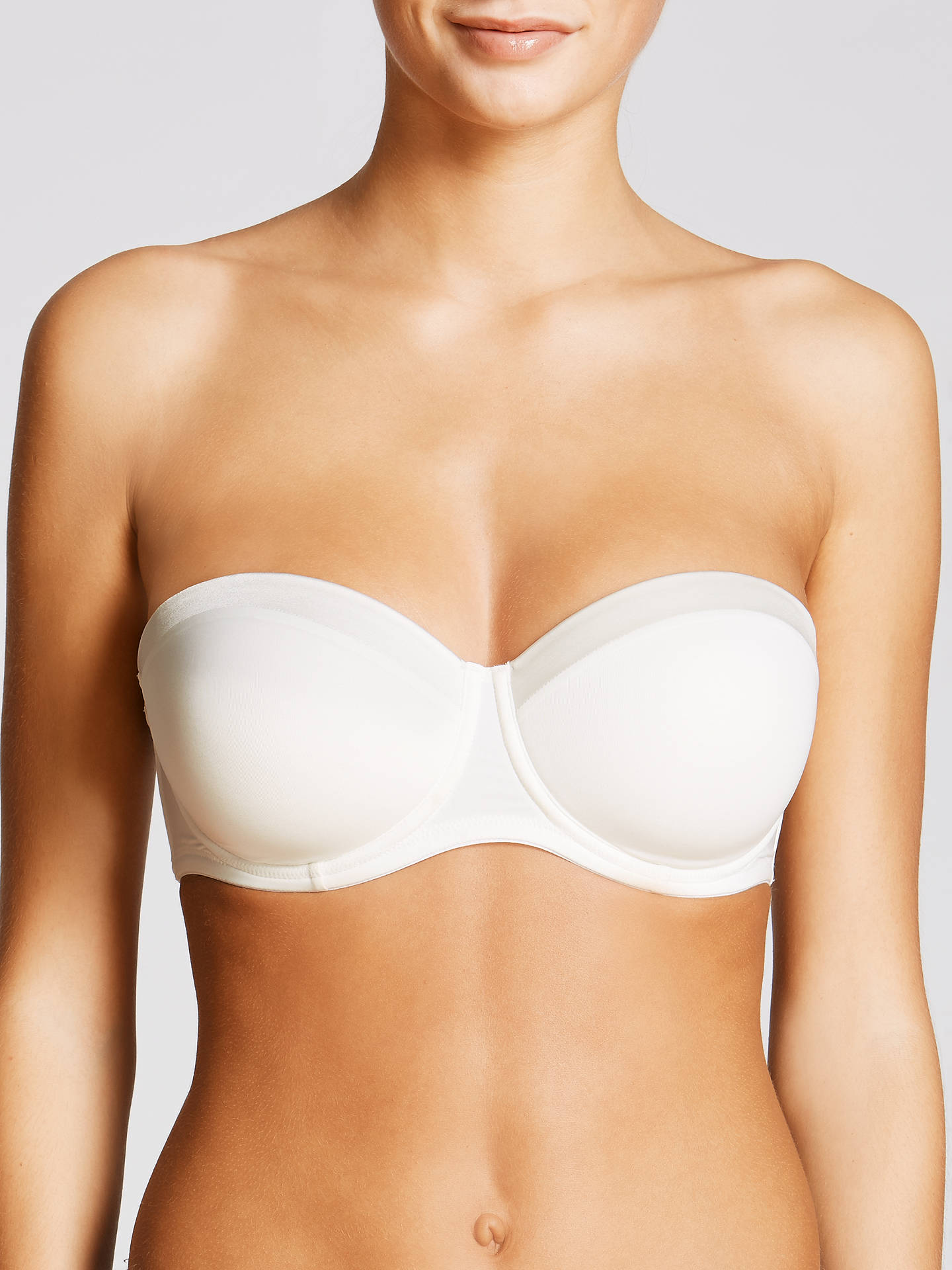 Buy John Lewis & Partners Satin Band Underwired Strapless Multiway Bra, Ivory, 30D Online at johnlewis.com