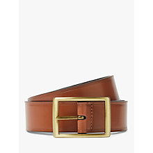 Buy John Lewis Full Grain Leather Stitch Belt, Tan Online at johnlewis.com