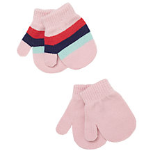 Buy John Lewis Baby Striped Magic Mittens, Pack of 2 Online at johnlewis.com