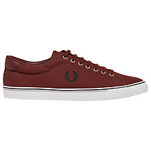 Buy Fred Perry Underspin Canvas Trainers, Port Online at johnlewis.com