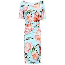 Buy Jolie Moi Short Sleeved Ruched Dress, Blue Online at johnlewis.com