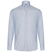 Buy Hackett London Micro Dot Print Shirt, Sky Blue Online at johnlewis.com