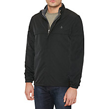 Buy Original Penguin Original Concealed Hood Windbreaker, True Black Online at johnlewis.com