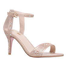 Buy Carvela Kollude Leather Sandals, Pink Fabric Online at johnlewis.com