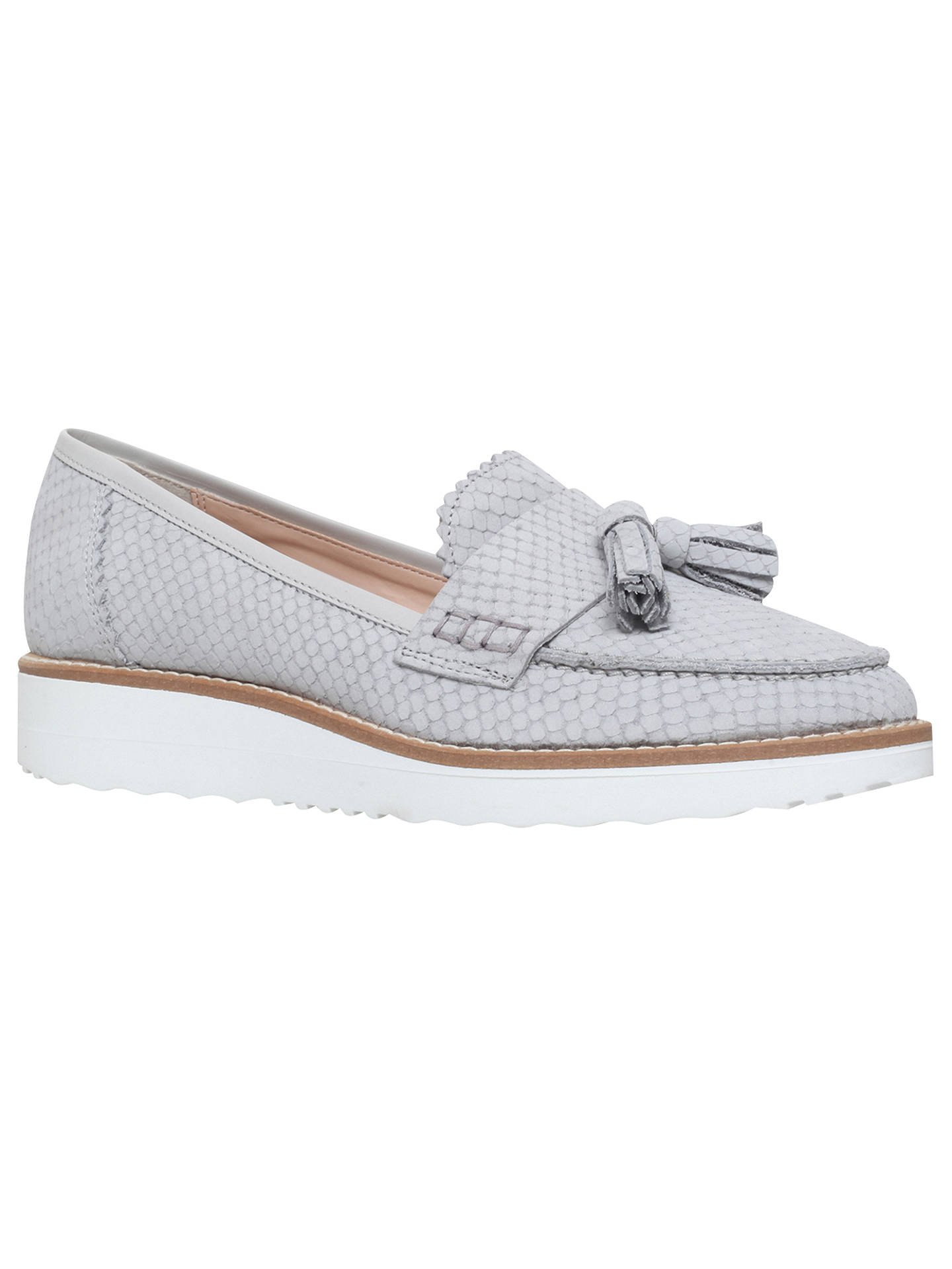 Buy Carvela Limbo Wedge Heeled Loafers, Grey Reptile, 3 Online at johnlewis.com