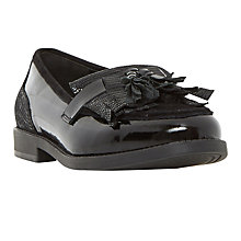 Buy Dune Goodie Fringed Loafers, Black Online at johnlewis.com