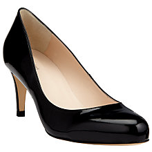 Buy John Lewis Arna Round Toe Court Shoes, Black Patent Online at johnlewis.com