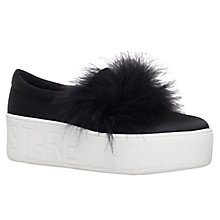 Buy KG by Kurt Geiger Lulu Flatform Trainers, Black Online at johnlewis.com