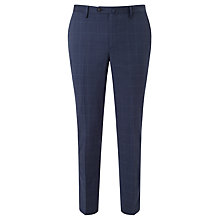 Buy Hackett London Super 110s Wool Windowpane Check Chelsea Regular Fit Suit Trousers, Cornflower Online at johnlewis.com