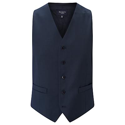 Hackett London Super 110s Wool Pindot Chelsea Regular Fit Waistcoat, Indigo