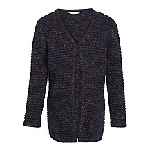 Buy John Lewis Girls' Long Length Cardigan, Peacoat Online at johnlewis.com