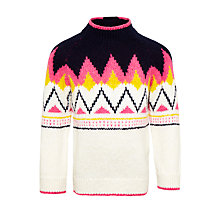 Buy John Lewis Girls' Knitted Chevron Jumper, Multi Online at johnlewis.com