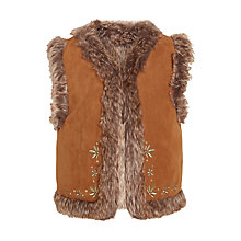 Buy John Lewis Girls' Reversible Gilet, Brown Online at johnlewis.com