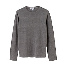 Buy Jigsaw Merino Tubular Stripe Jumper, Grey Melange Online at johnlewis.com