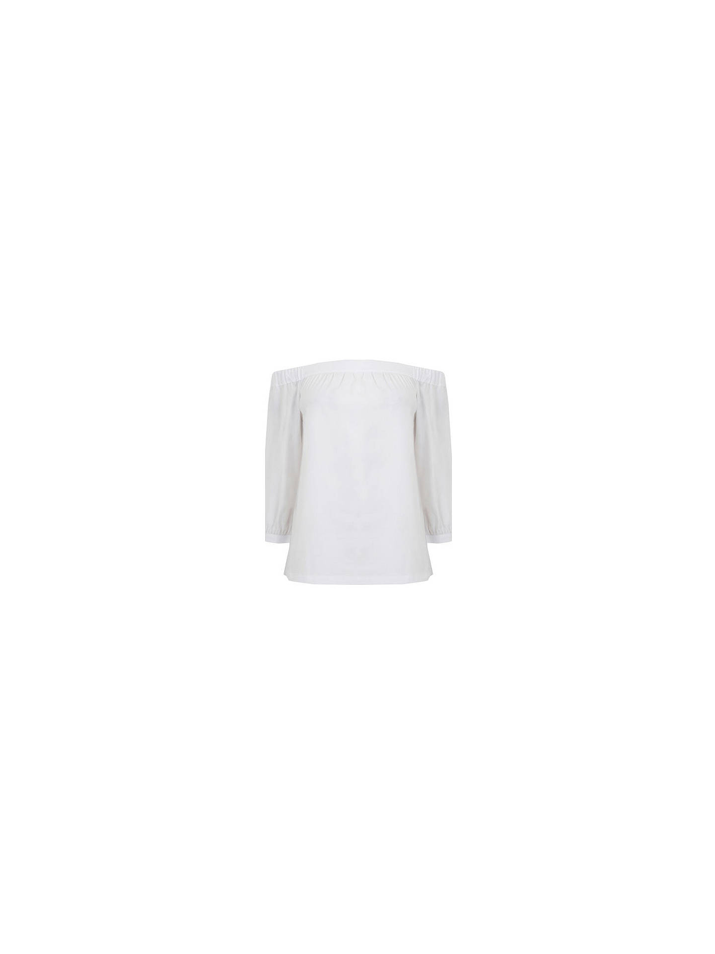 BuyWarehouse Off The Shoulder Cotton Top, White, 6 Online at johnlewis.com