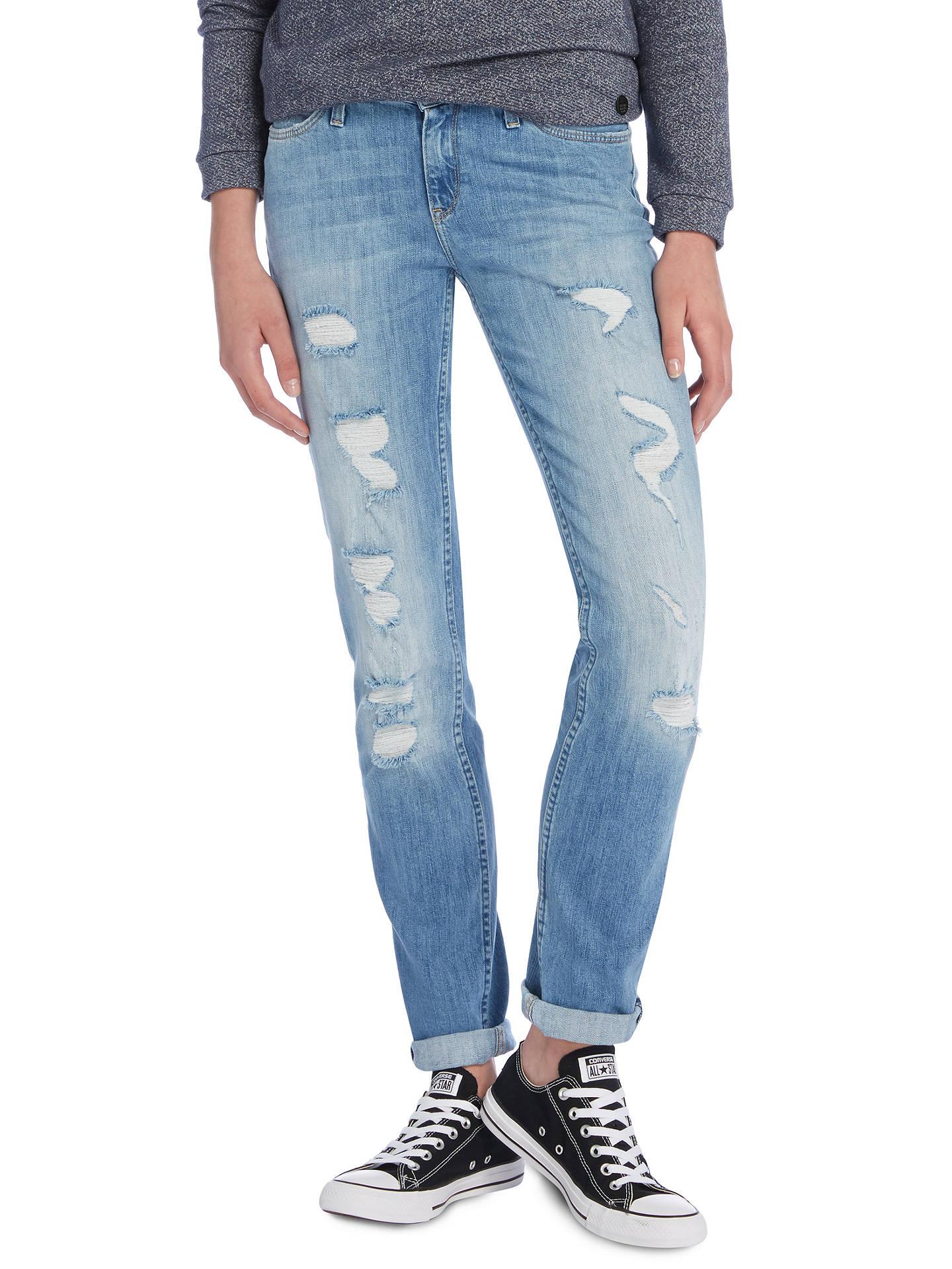 83f631fc Buy Lee Emlyn Regular Waist Straight Leg Jeans, Blue Trash, W27/L31 Online  ...