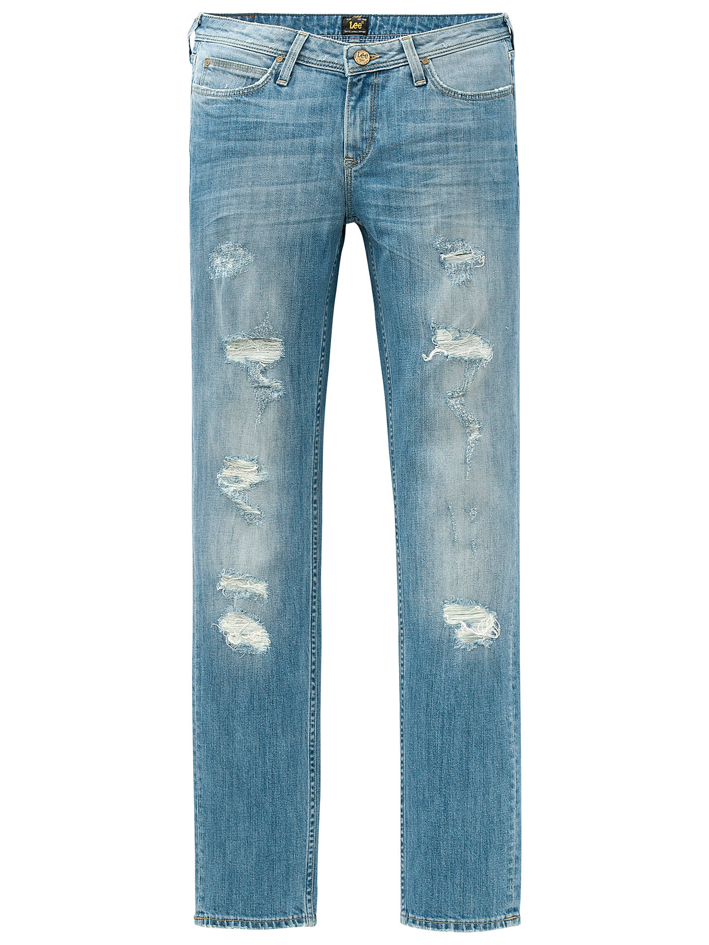 2aa9fc2a ... Buy Lee Emlyn Regular Waist Straight Leg Jeans, Blue Trash, W27/L31  Online