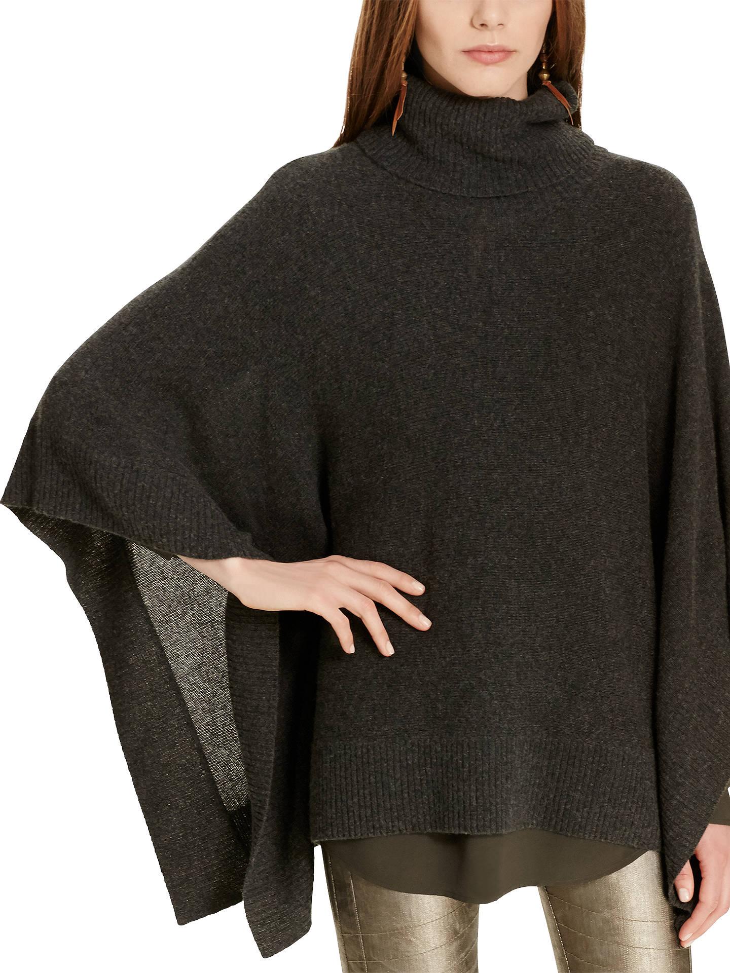 how to buy classic fit aliexpress Polo Ralph Lauren Boxy Cashmere Poncho, Dark Smoke Heather ...