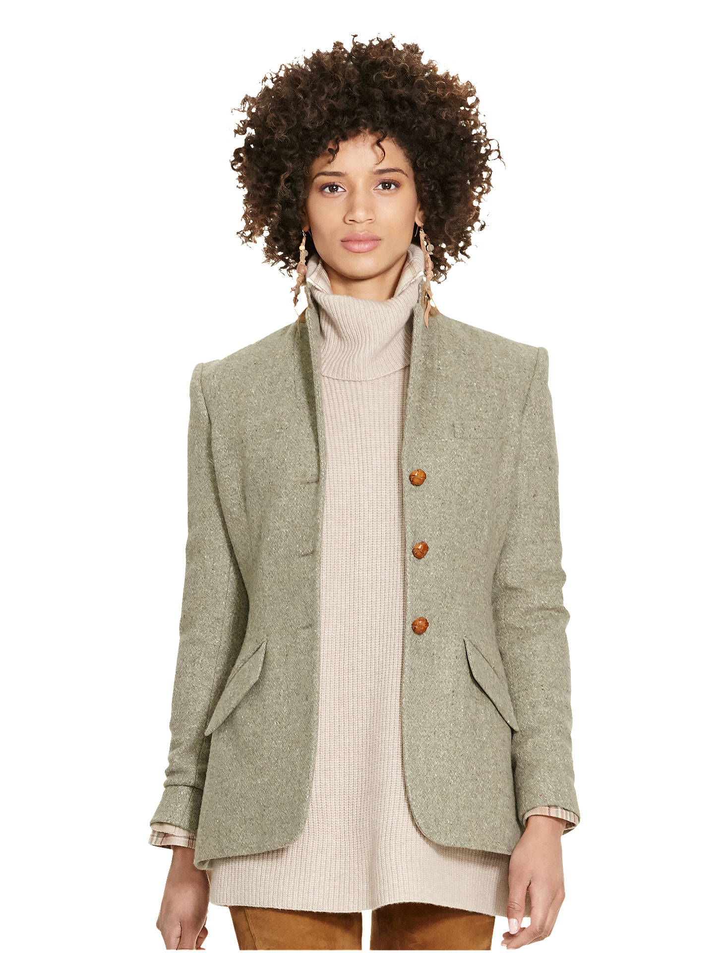 f4d1581cef96 Buy Polo Ralph Lauren Hacking Virgin Wool Jacket, Vintage Olive, 10 Online  at johnlewis ...
