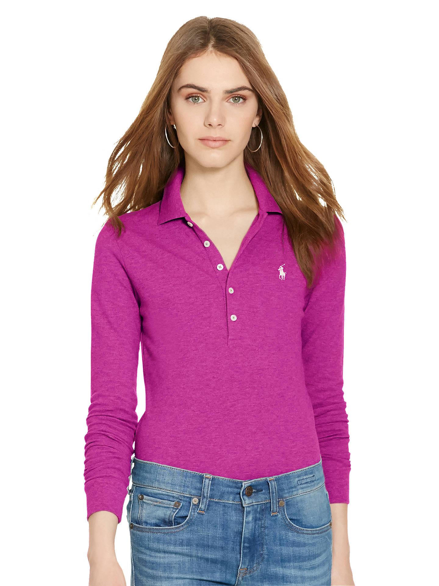 Sleeve Lauren Julie Skinny Stretch Polo Long Shirt Ralph Fit eWdrCxBo