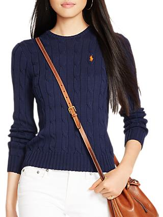 db7c48144 Polo Ralph Lauren Cable-Knit Cotton Jumper
