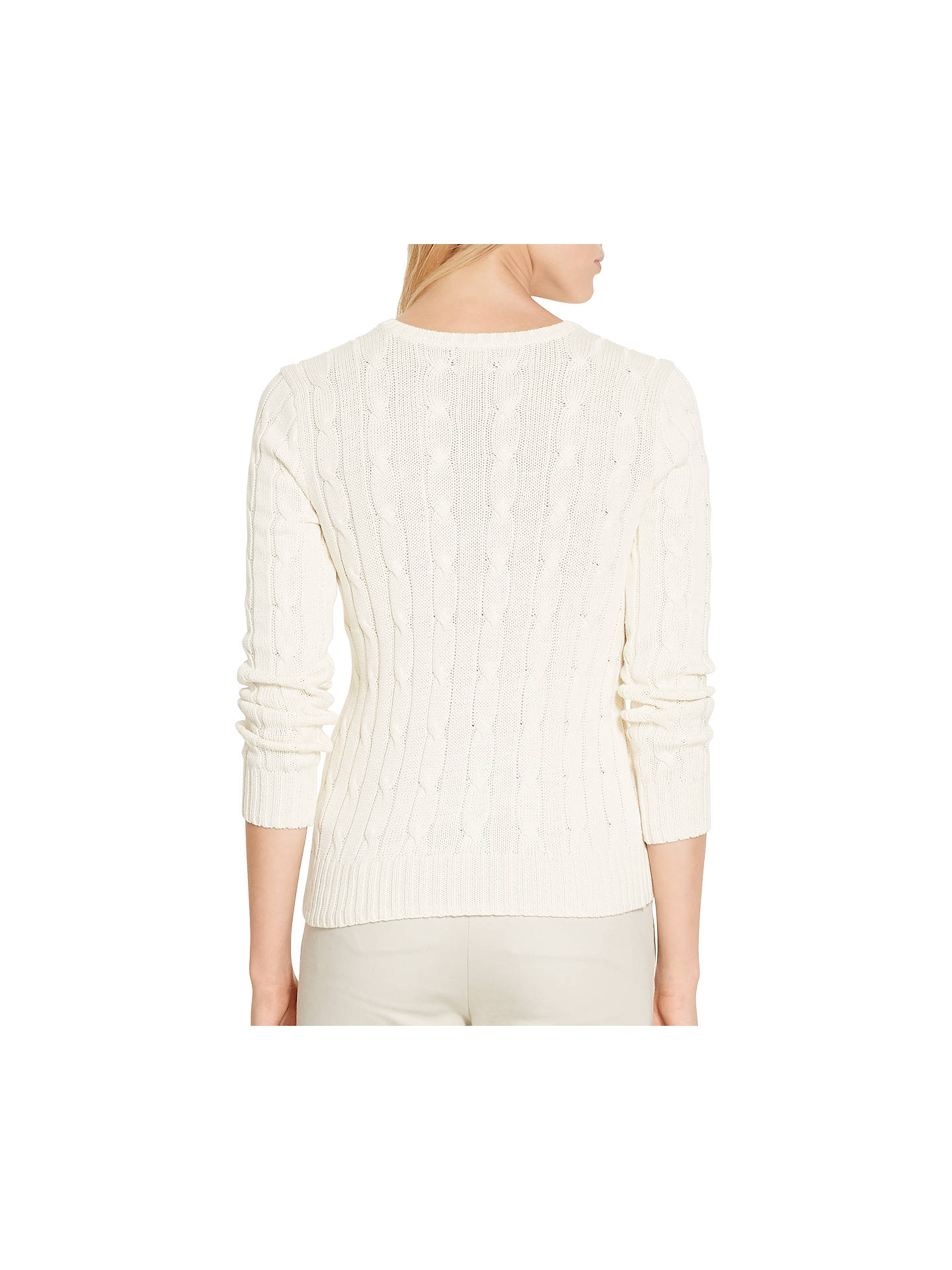 Ralph Neck Cable Lauren V JumperCream Knit Polo eIbWEHYD29