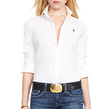 Buy Polo Ralph Lauren Kendall Fitted Shirt, White Online at johnlewis.com