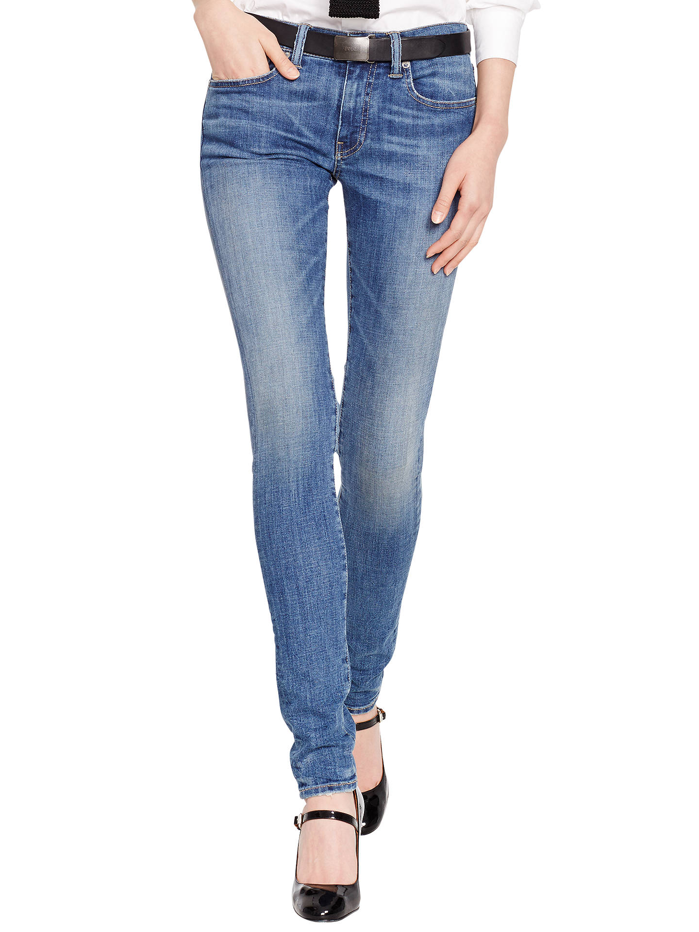 ed49b5797e Polo Ralph Lauren Tompkins Skinny Fit Jeans, Calloway Indigo at John ...