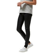 Buy Selected Femme Silvia Slim Fit Leather Leggings, Black Online at johnlewis.com