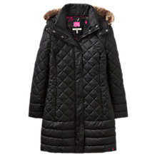 Buy Joules Snowshill Padded Jacket, Black Online at johnlewis.com