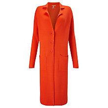 Buy BOSS Orange Ilvanova Coatigan, Spicy Orange Online at johnlewis.com
