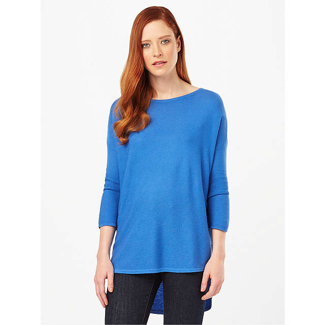 BuyPhase Eight Megg Curve Jumper, Kingfisher Blue, XS Online at johnlewis.com
