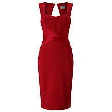 Buy Phase Eight Daniela Satin Dress, Scarlet Online at johnlewis.com