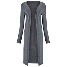 Buy Phase Eight Long Side Split Cardigan, Grey Online at johnlewis.com