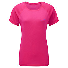 Buy Ronhill Vizmotion Short Sleeve Running Top, Fluorescent Pink Online at johnlewis.com