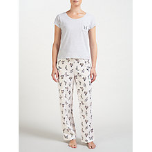 Buy John Lewis Butterfly Print Pyjama Set, Grey/Multi Online at johnlewis.com
