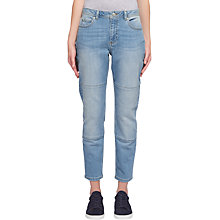 Buy Whistles Light Wash Paneled Boyfriend Jeans, Blue Online at johnlewis.com