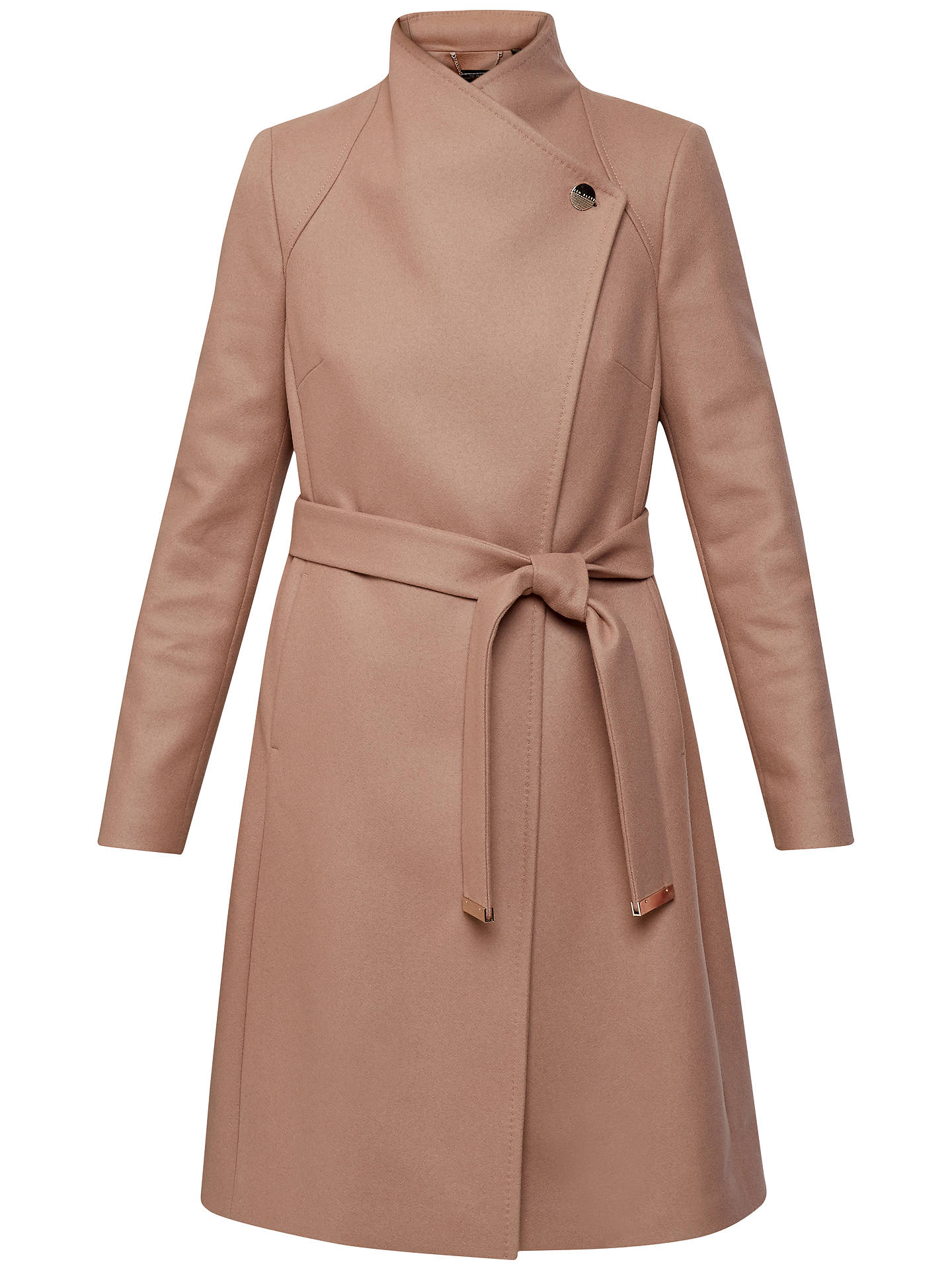 5e4cfaa97214 Ted Baker Aurore Long Wrap Collar Coat at John Lewis   Partners